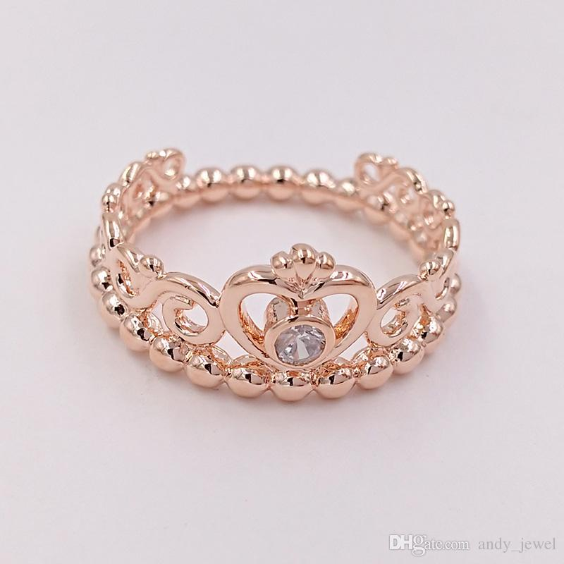 pandora princess ring gold