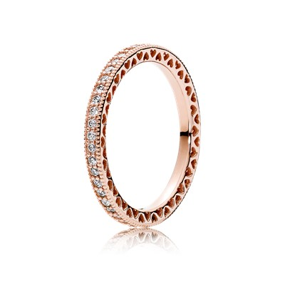 pandora promise rings rose gold