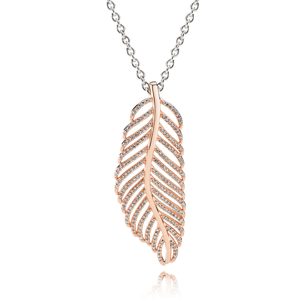 pandora rose gold necklace